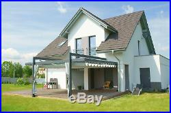 Retractable Awning -Slide Canopy Sliding Roofing Pergola System Terrace SUNCOVER
