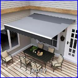 Retractable Outdoor Yard Backyard Sun Shade Shelter Patio Awning Canopy 10x8 ft
