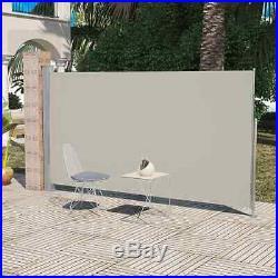 Retractable Side Awning 6x10 Cream Patio Terrace Outdoor Garden Shade Screen