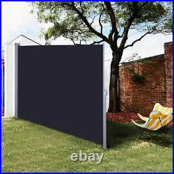 Retractable Side Awning Outdoor Garden Wall Wind Screen Privacy Divider Sunshade