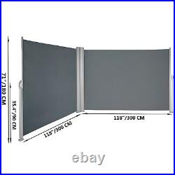 Retractable Side Awning Patio Screen Retractable Fence 71x236inch Privacy Screen