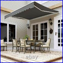 Rugged Retractable Outdoor Yard Backyard Sun Shade Shelter Patio Awning Canopy