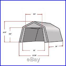 SAVE $$$ Carport 24'x13' Grey White Garage Storage Canopy Shed
