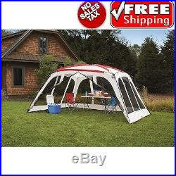 Screen House Canopy Tent 14x12 for Outdoor Sun Shade Beach Camping Shelter Large