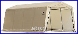ShelterLogic 10 x 20- 8 HIGH New Auto Shelter, Tan GARAGE COVER CAR TRUCK TRACTOR