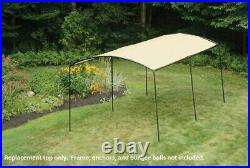 ShelterLogic 10x18 Monarc Canopy Replacement Top Cover Carport 803677 25867