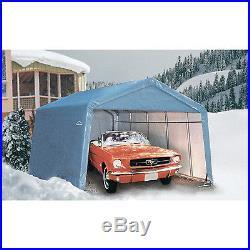 ShelterLogic 12Ft. W House Style Portable Garage/Carport- 24ft. L x 12ft. W x 8ft. H