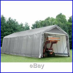ShelterLogic 16 x 36 x 16 ft. Peak Style Canopy Carport -, Grey, 36x14x16