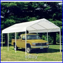 ShelterLogic Canopy Cover with Enclosure Kit 10 x 20 ft, White, 10 foot x 20