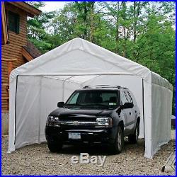 ShelterLogic Portable Garage Carport Canopy Steel Tent Storage Shed 12x20 ft