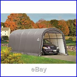 ShelterLogic Roundtop Instant Garage-Gray 20ftL x 12ftW x 8ftH 62780