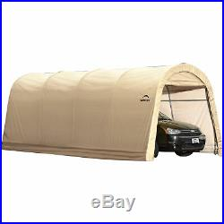 ShelterLogic Roundtop Instant Garage-Tan 20ftL x 10ftW x 8ftH 62684