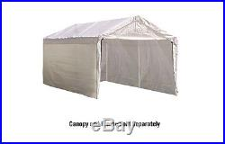 ShelterLogic Super Max 10 ft. X 20 ft. White Canopy Enclosure Kit Fits 2 in. Fra