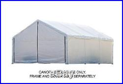 ShelterLogic Super Max 18 ft. X 20 ft. White Canopy Enclosure Kit Fits 2 in. Fra