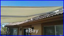 Strong Roof Mount Electrical Remote Ctrl Retractable Awning Patio Cover SunShade