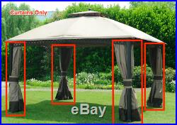 Sunjoy L-GZ717PST-C Curtains Replacement for 10x12 Gazebo