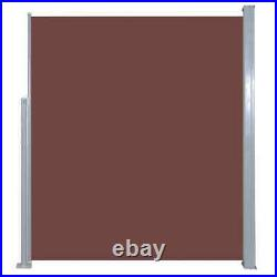 USA Retractable Side Awning 63x196.9 Brown Privacy Screen Shade Blind
