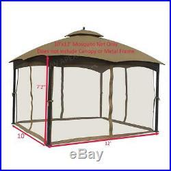 Universal 10 ft. X 12 ft. Gazebo Replacement Mosquito Netting Mosquito Net