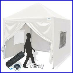 Upgraded Quictent 10X10 EZ Pop Up Canopy Tent Gazebo Party Tent with Sides White