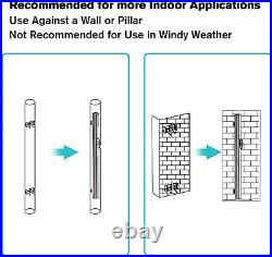 VILOBOS Aluminum Retractable Side Awning Privacy Sunshade Wind Screen Divider