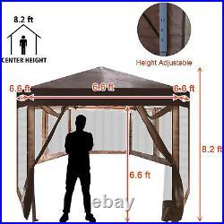 VILOBOS Outdoor Hexagon Gazebo Foldable Party Tent Garden Sun Shelter Canopy Bag