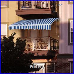 VIVOHOME Patio Awning Canopy Retractable Deck Door Outdoor Sunshade Shelter New