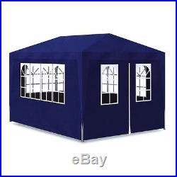 VidaXL Outdoor Party Tent 10'x13' Blue Canopy Gazebo Pavilion Events 4 Walls