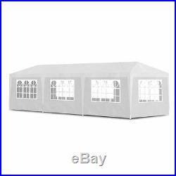 VidaXL Party Tent 10'x30' White Outdoor Garden Wedding Patio Gazebo Canopy