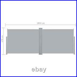 VidaXL Retractable Side Awning Anthracite 66.9x393.7 Outdoor Privacy Screen