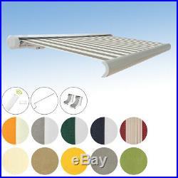 Vollkassettenmarkise elektrisch Kassettenmarkise mit Farbwahl 3x2,5m PA-Acryl