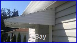 WHITE 46 w x 36 p x 12 h Aluminum Awning / Door Awning kit