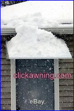 WHITE 46 w x 36 p x 15 h Aluminum Awning / Door Awning kit