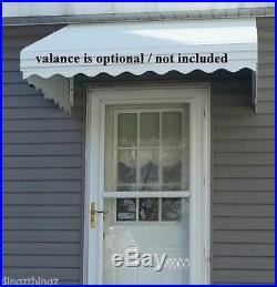 WHITE46 w x 36 p x 15 d Aluminum Awning / Door Canopy WHITE window kit