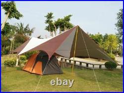 Waterproof 26ft Rainfly Camping Patio Yard Beach Gazebo Awning Canopy Tent NEW