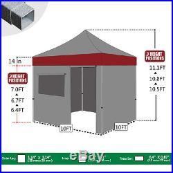Waterproof BLACK 10x10 Ez Pop Up Canopy Outdoor Commercial Beach Patio Tent