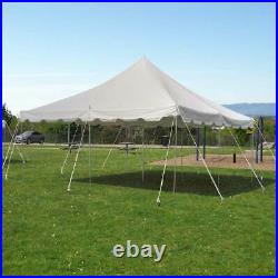 Weekender 20x20' USED Pole Tent Canopy White Event Party Waterproof Vinyl Top