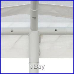 White 10x20 Domain Carport Multi-Use Waterproof Portable Car Garage Tent Cover