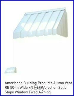 White Aluminum Window awning 50x22