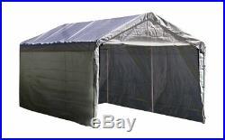 White Canopy Enclosure Kit 12 x 20 Car Port Shelter Cover Tent Portable Garage