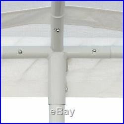 White Heavy Duty Canopy Tent 10 x 20 FT Steel Carport Portable Car Shelter 6 Leg