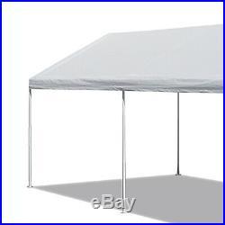 White Heavy Duty Canopy Tent 10 x 20 FT Steel Carport Portable Car Truck Shelter