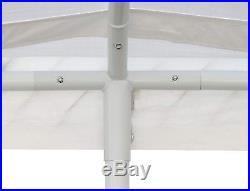 White Heavy Duty Canopy Tent 10x20 FT Steel Carport Portable Car Shelter 6 Legs
