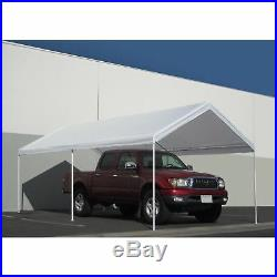 White Portable 10x20 Carport Canopy Garage Tent Shelter Cover Kit Outdoor Frame