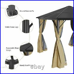 YITAHOME 10X10ft Outdoor Canopy Gazebo with Mosquito Netting Party Tent Aluminum